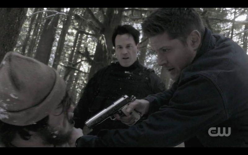 dean ketch hold gun on bad guys bring em back alive spn