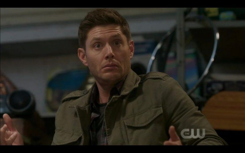 dean wincheseter innocent look with toys supernatural