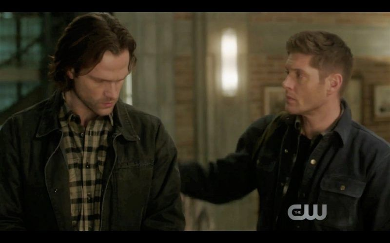 dean winchester touching sam spot supernatural thing