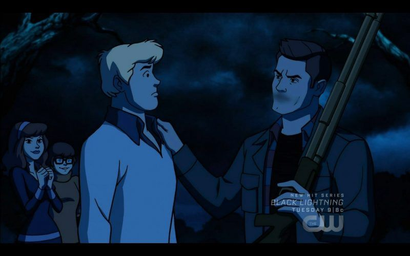 fred with dean winchester fighting over daphne scoobynatural