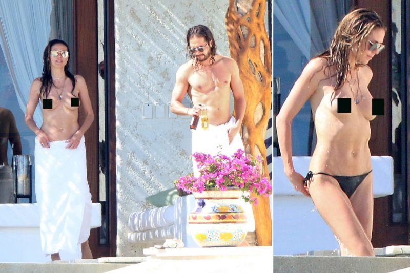heidi klum works topless look for tom kaulitz