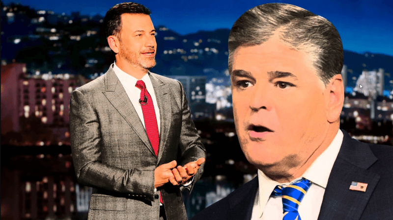 jimmy kimmel simmering down sean hannity over melania trumpjimmy kimmel simmering down sean hannity over melania trump