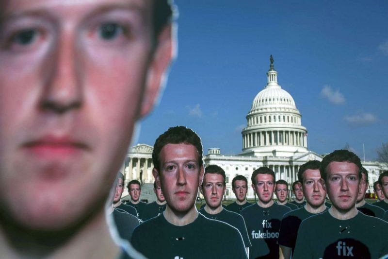 mark zuckerberg cutouts on capitol hill