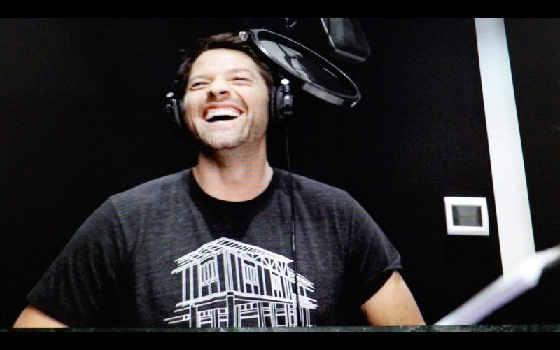 misha collins scoobynatural voice over behind scenes