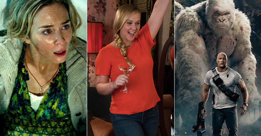 rampage bumped down by a quiet place amy schumer