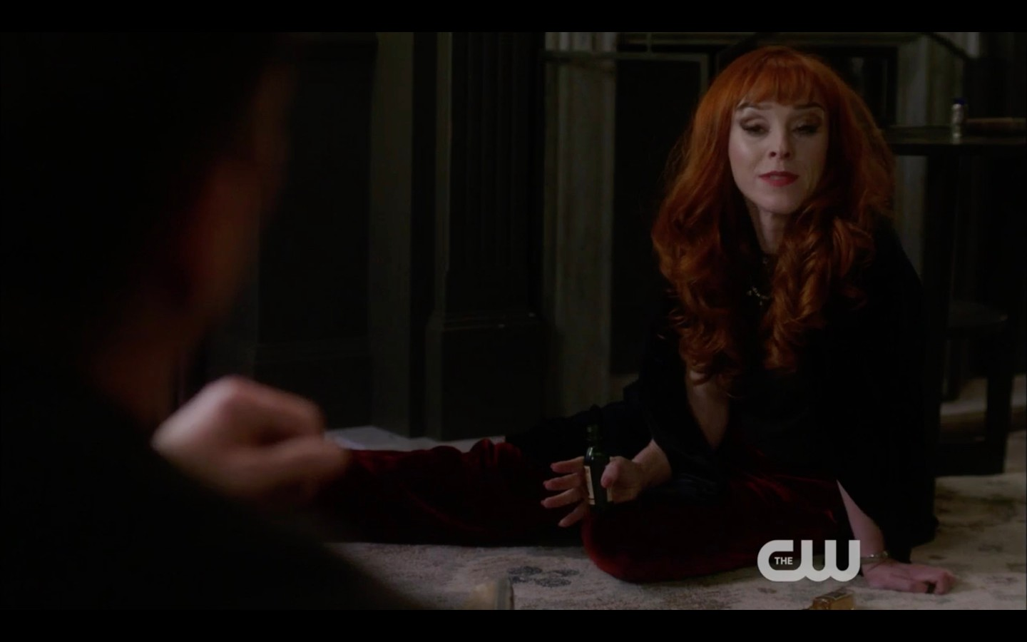 rowena reacts to sam winchester help supernatural funeralia
