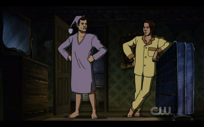 sean sam winchester in pajamas scoobynatural