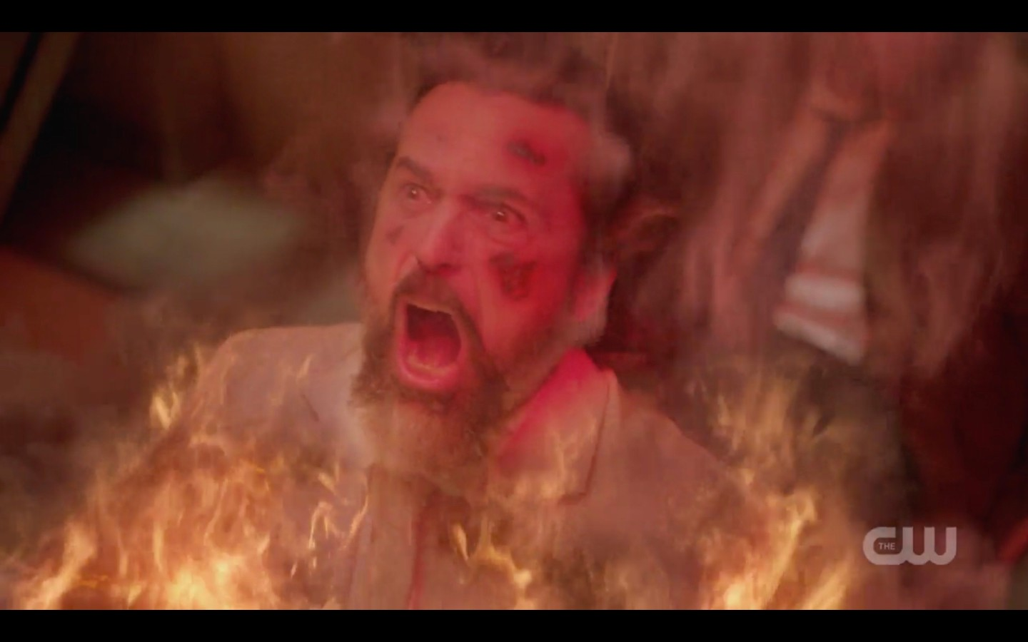 supernatural asmodeus goes up in flames from gabriel