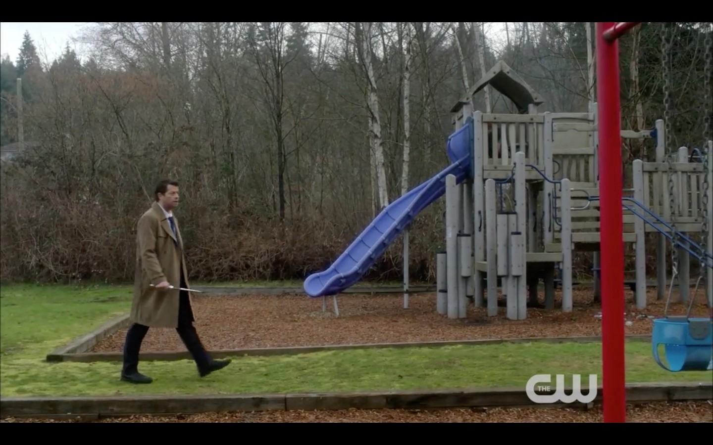 supernatural cas with knife on playground return to heaven funeralia
