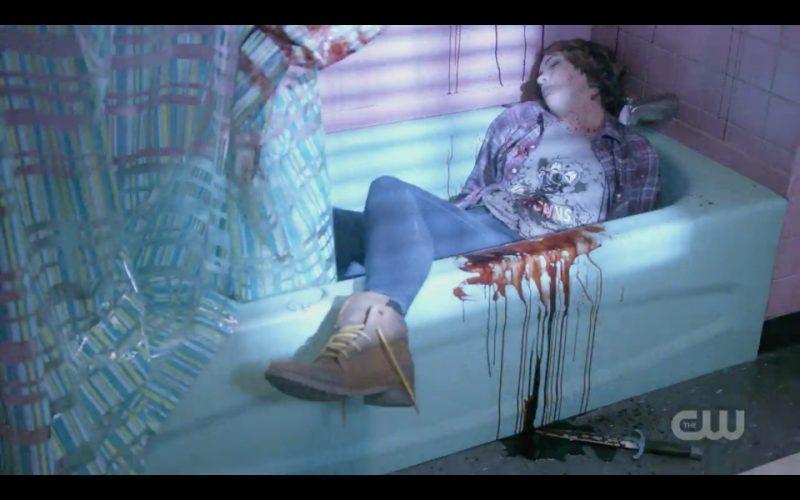 supernatural charlie mudered bloody in bath tub