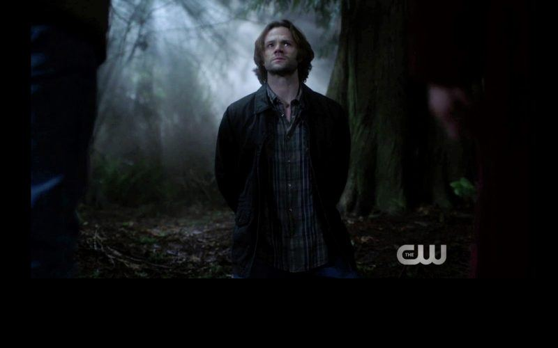 supernatural sam winchester lets out chained woman thing