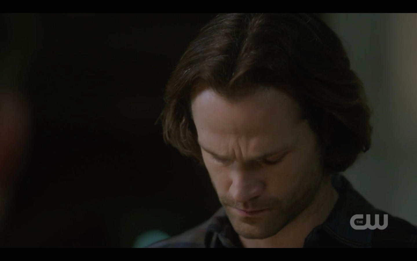 supernatural sam winchester sad looking down for brother dean unfinished business