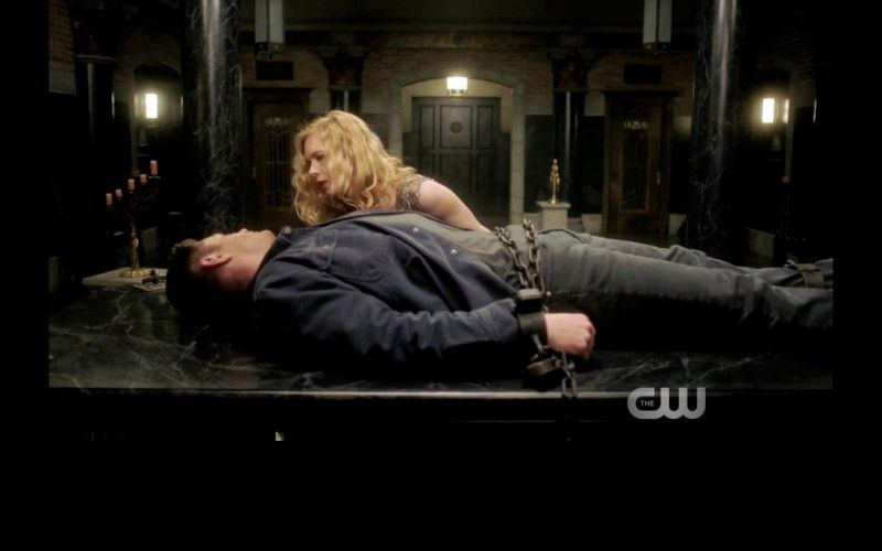supernatural thing chained woman holds down dean winchester