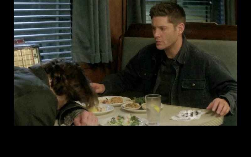 supernatural winchester brothers eating at diner thing