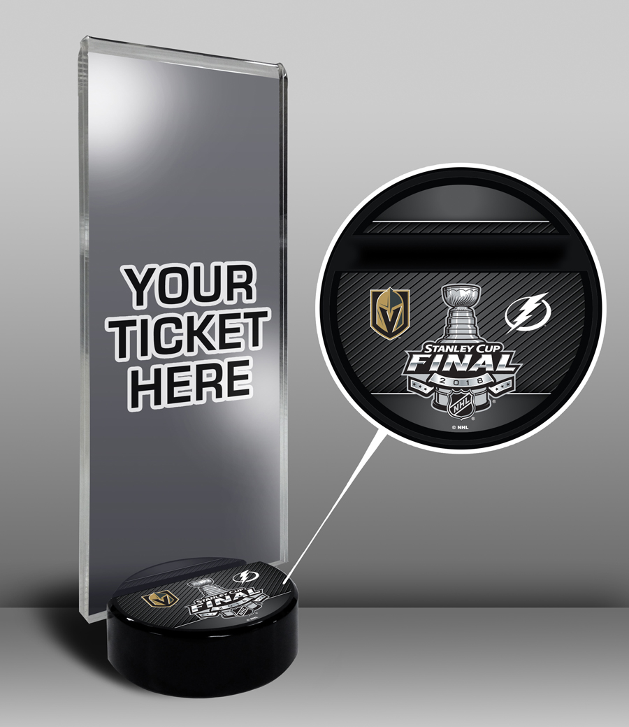 2018 stanley cup hockey puck ticket stub holder gift
