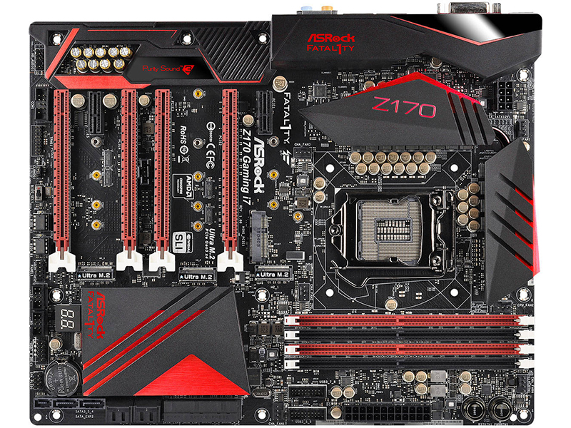 ASRock Fatal1ty Z170 Professional Gaming i7 top view imags