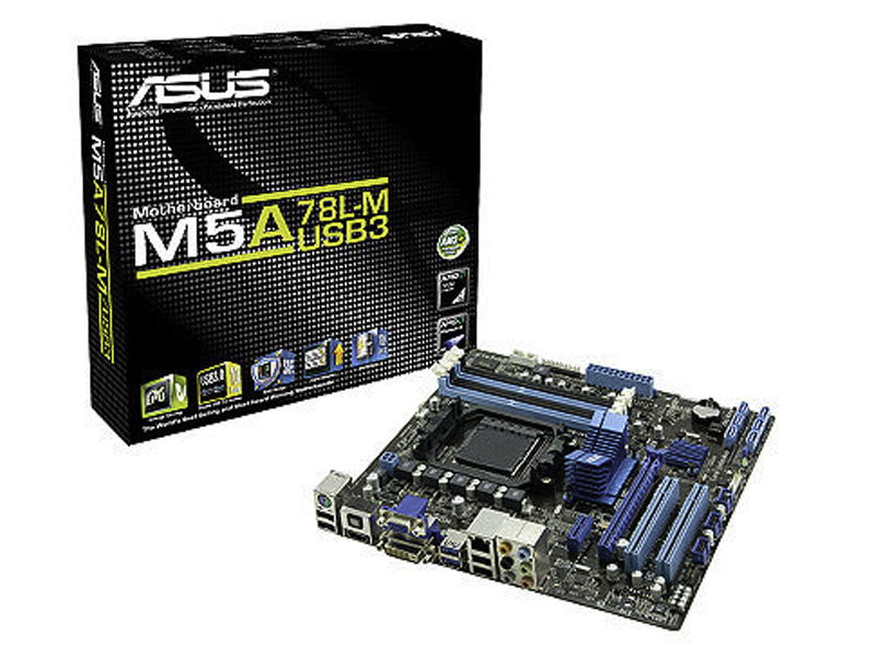 Asus M5A78L-M USB3 motherboard images