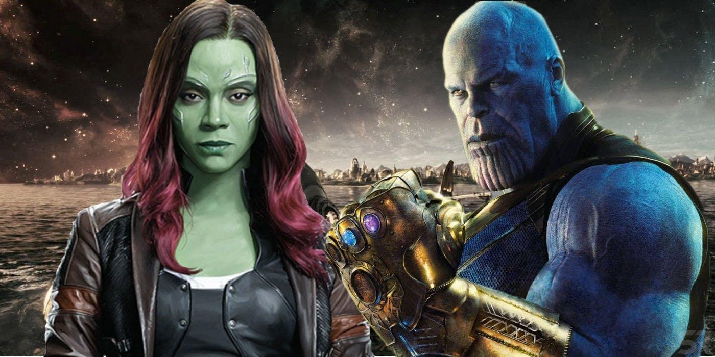 avengers infinity war thanos little gamora soul stone realm