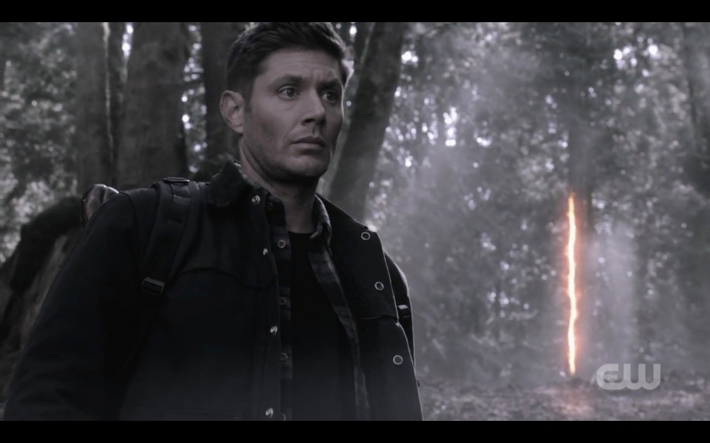 dean winchester in forest with worm hole beat the devil
