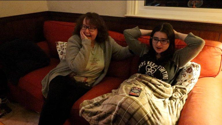 lynn and jaime watching supernatural season 13 finale reacting
