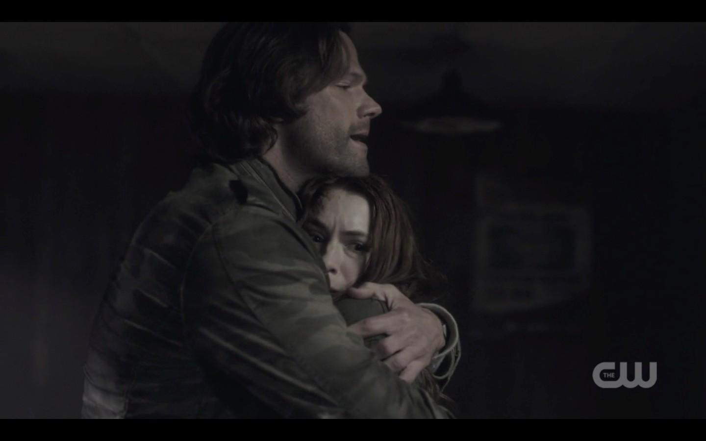 sam winchester hugs charlie supernatural 1322