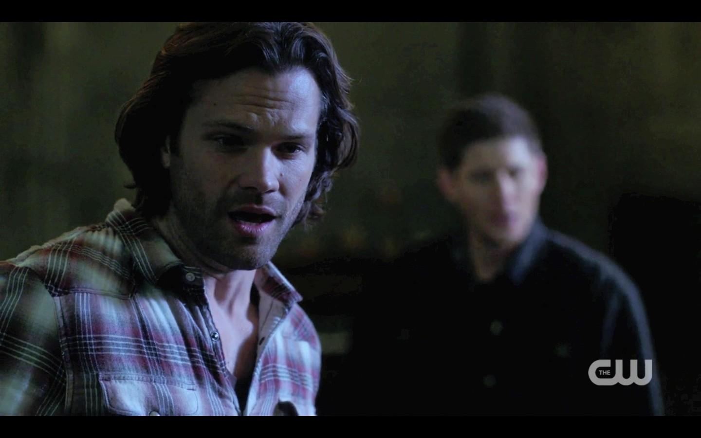 sam winchester mouth open for dean jack supernatural finale