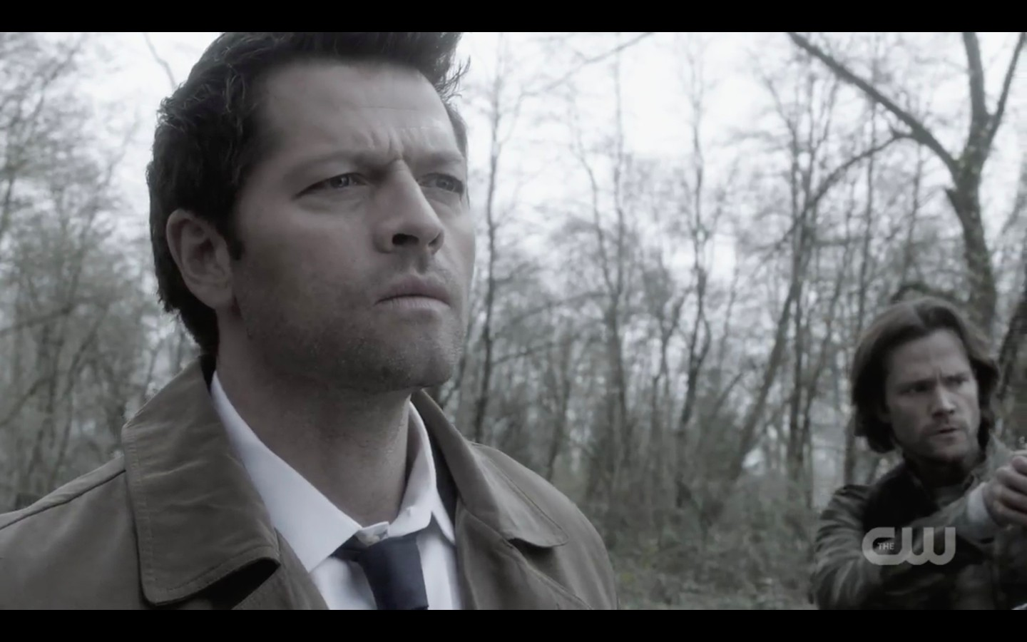 sam winchester with castiel on way to bobby singer exodus 1322