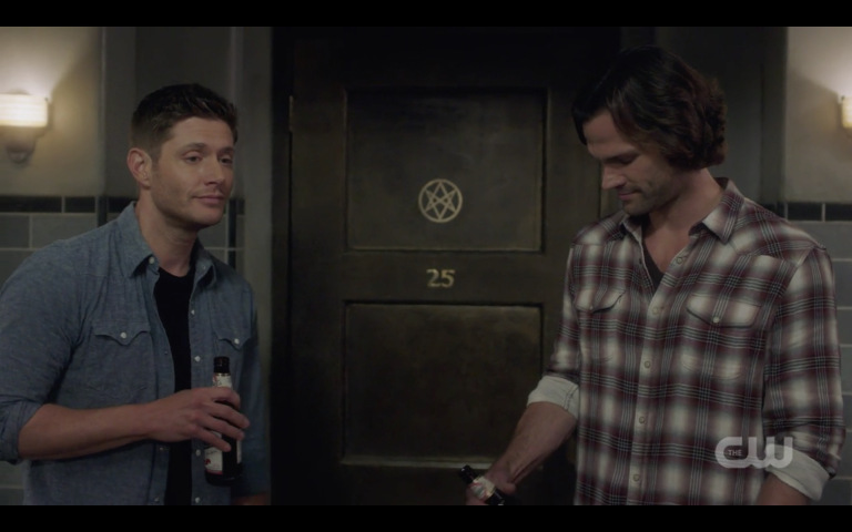 supernatural sam dean winchester drinking down beer 1324 good times roll
