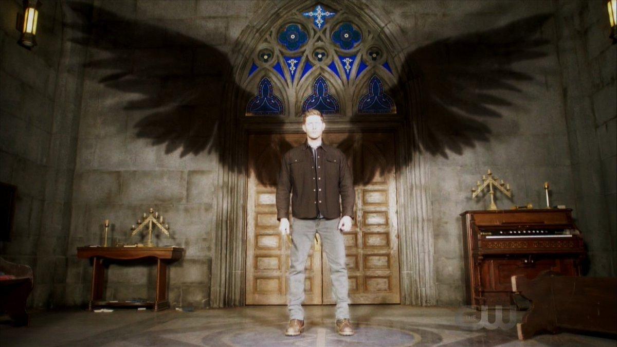 supernatural season 13 finale dean winchester angel wings