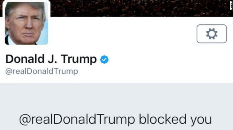 donald trump continues blocking on twitter