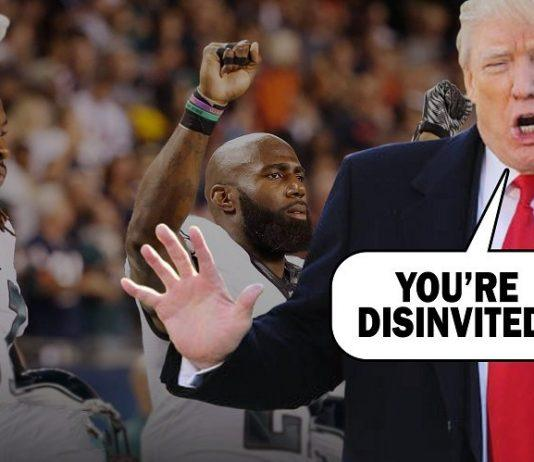 donald trump distracts again with philadelphia eagles 2018 images