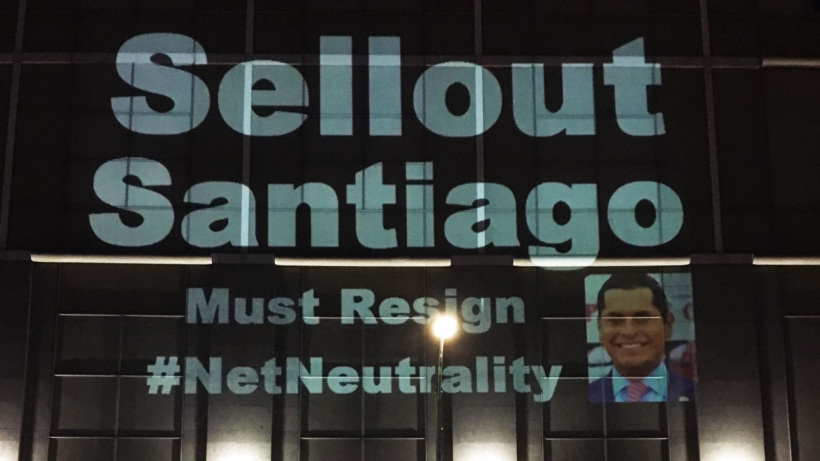 mark santiago feels repercussions over net neutrality bill