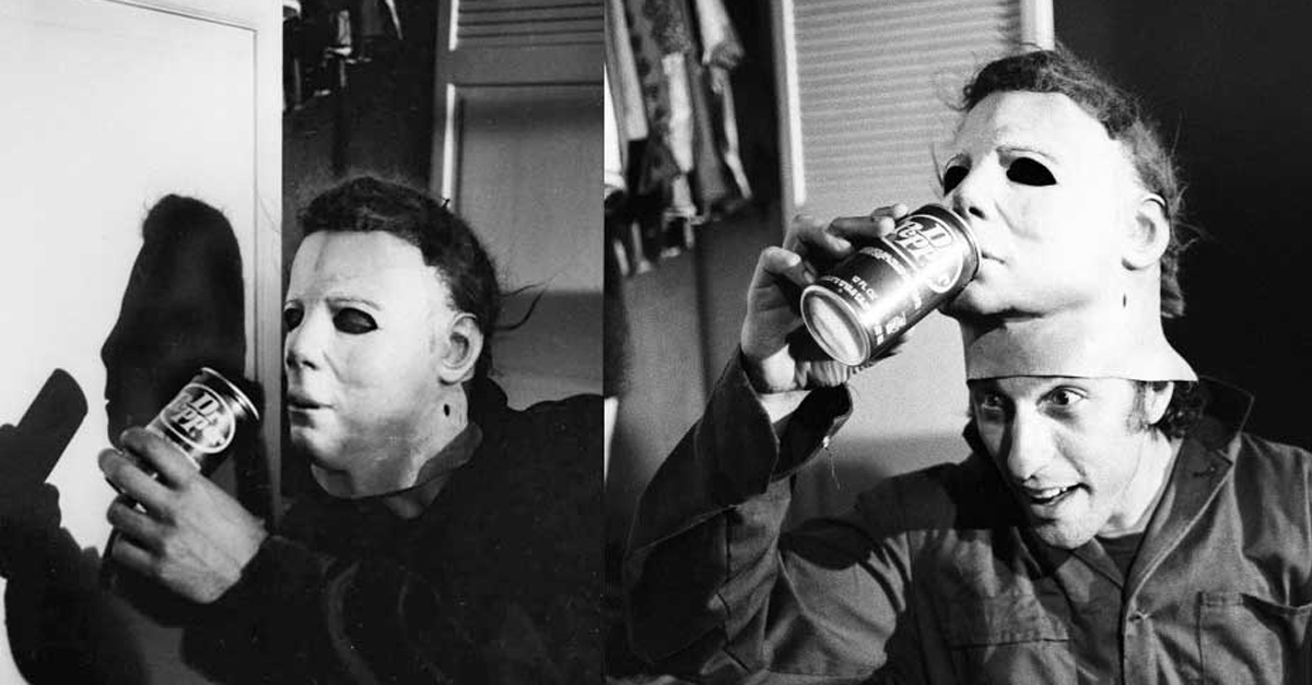 nick castle playing around dr pepper with michael myers