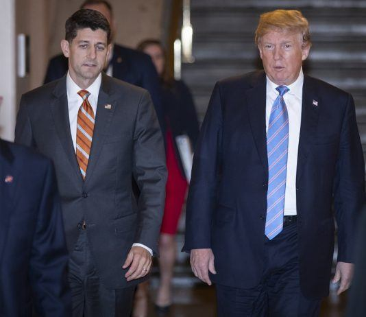 Speak of House Paul Ryan discusses immigration bill problems with Donald Trump