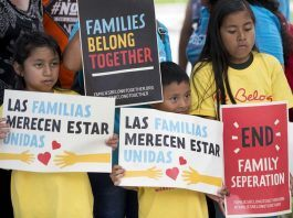 under pressure donald trump ends immigration family separation 2018 images