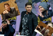 Supernatural jared jensen misha calvin at comic con 2018