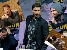 Supernatural jared jensen misha calvin at comic con 2018