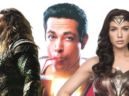 aquaman shazam wonder woman for dc comics movie slate 2018