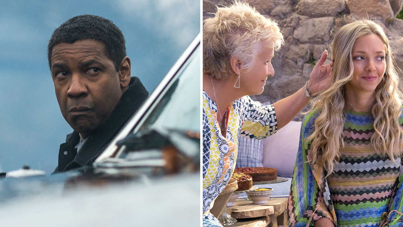 denzels equalizer 2 and mamma mia rule box office weekend 2018 images