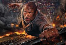 dwayne johnson fighting to live in skyscraper movie