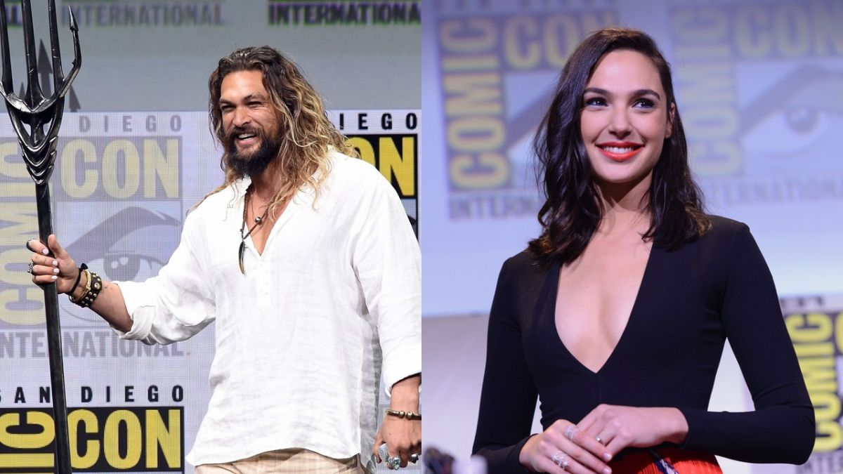 jason momoa gal gadot at comic con 2018