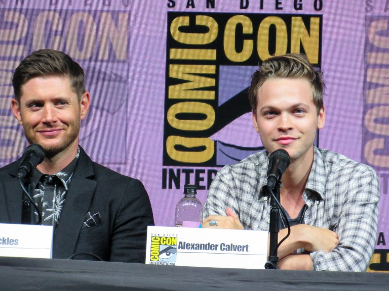 jensen ackles with alex calvert supernatural comic con panel