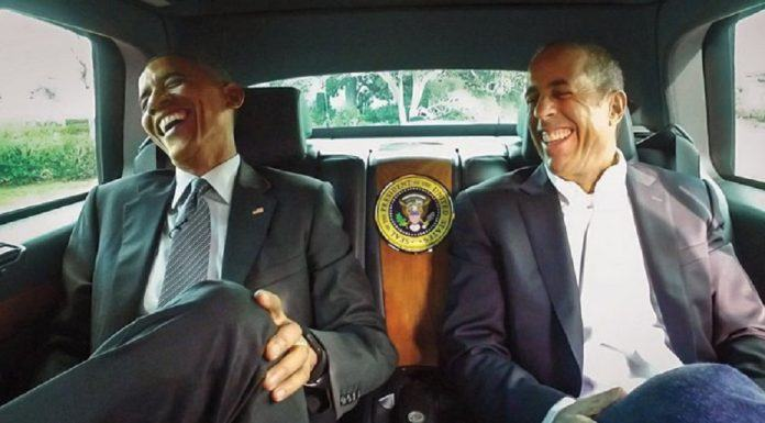 jerry seinfeld with barack obama limo