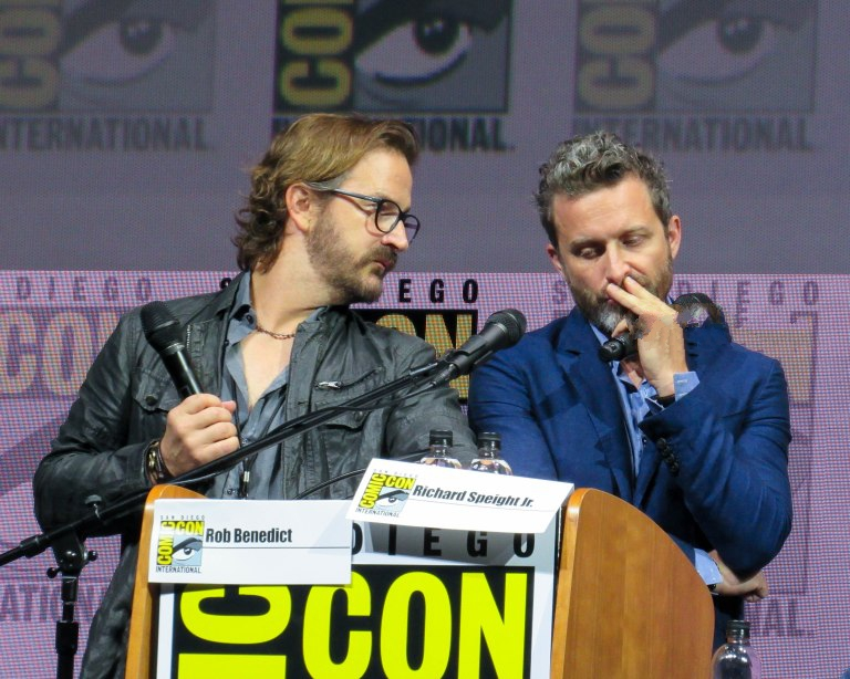 richard speight jr with rob benedict at comic con 2018