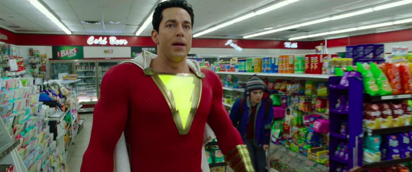 zachary levi in shazam costume