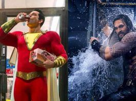 zachary levi shazam with jason momoa aquaman movies