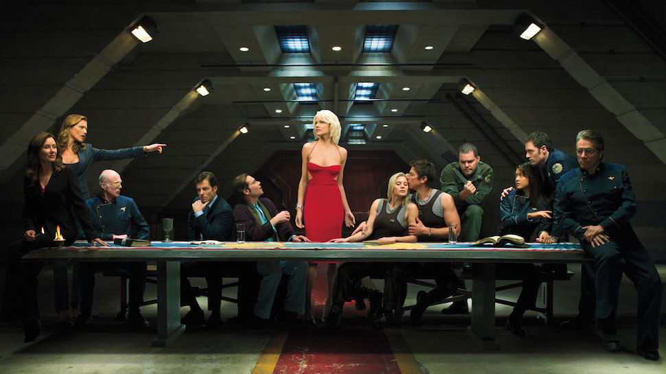 battlestar gallactica does the last supper images