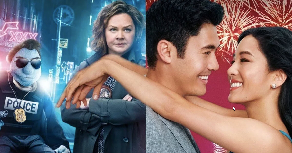 crazy rich asians beats off happytime murders box office