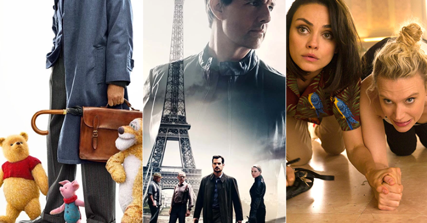 mission impossible vs christopher robin and spy who dumped me 2018