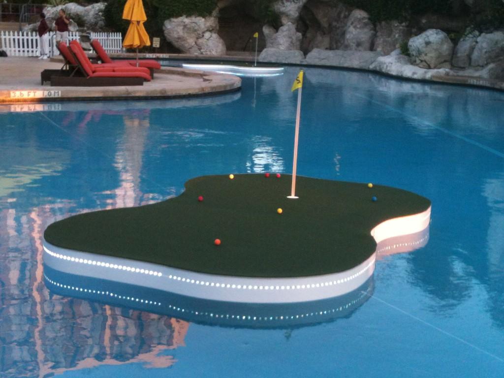 pool golfing green
